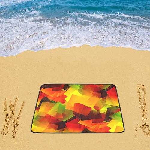 """Indian Summer Cubes Beach Mat 78""""x 60"""""""