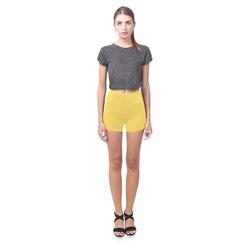 Primrose Yellow Briseis Skinny Shorts (Model L04)