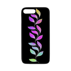 """BORDER LEAVES TENDRIL Watercolor Colored White Rubber Case for iPhone 7 plus (5.5"""")"""
