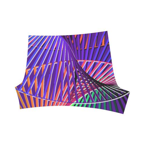 Colorful Rainbow Helix Briseis Skinny Shorts (Model L04)