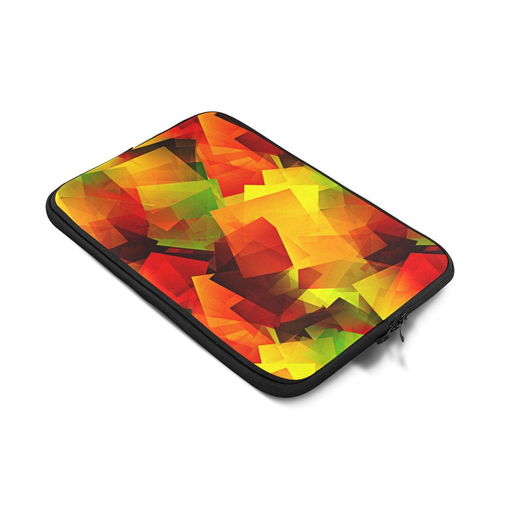 Indian Summer Cubes Custom Sleeve for Laptop 17""