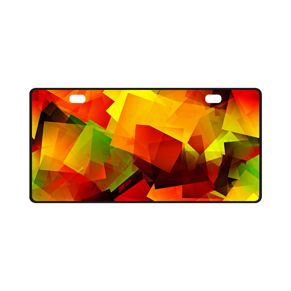 Indian Summer Cubes License Plate