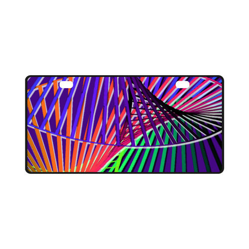 Colorful Rainbow Helix License Plate