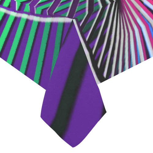 "Colorful Rainbow Helix Cotton Linen Tablecloth 60""x120"""
