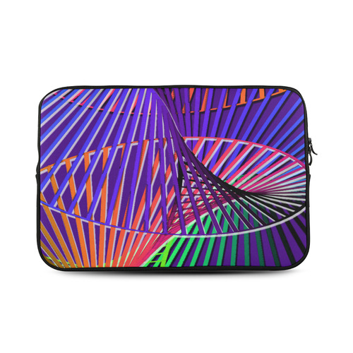 Colorful Rainbow Helix Custom Sleeve for Laptop 17""