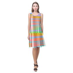 Stripes 20161006 Sleeveless Splicing Shift Dress(Model D17)