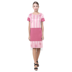Pattern 20161006 Short Sleeves Casual Dress(Model D14)