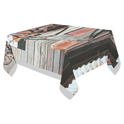 """Spitting on sidewalks prohibited Cotton Linen Tablecloth 52""""x 70"""""""