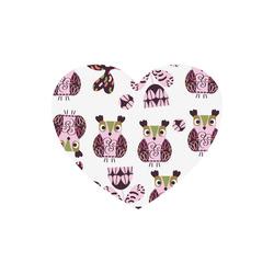 Owls pattern 6 Heart-shaped Mousepad
