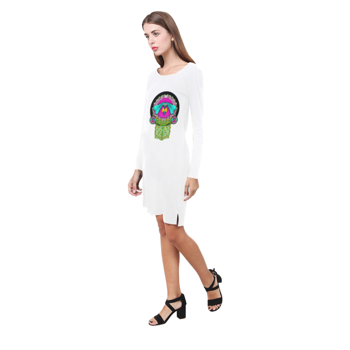 Love me give me a home Demeter Long Sleeve Nightdress (Model D03)
