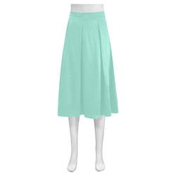 Beach Glass Mnemosyne Women's Crepe Skirt (Model D16)