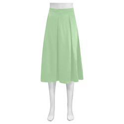 Pistachio Mnemosyne Women's Crepe Skirt (Model D16)