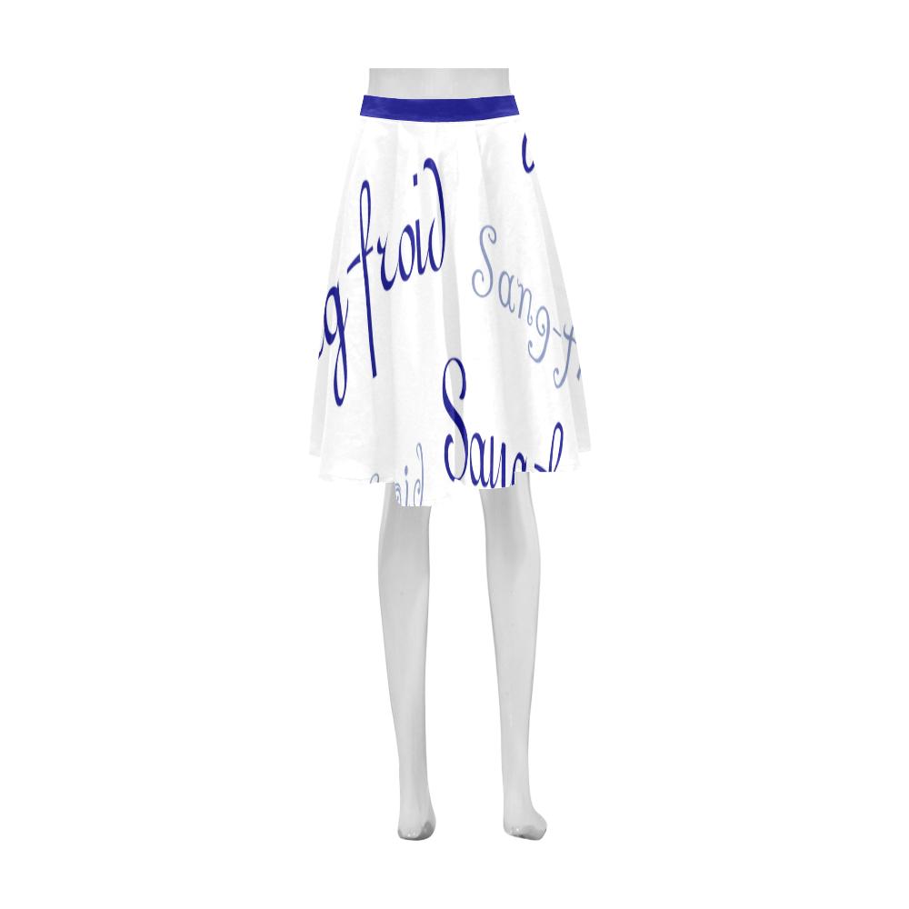 Blue Sang-froid Athena Women's Short Skirt (Model D15)