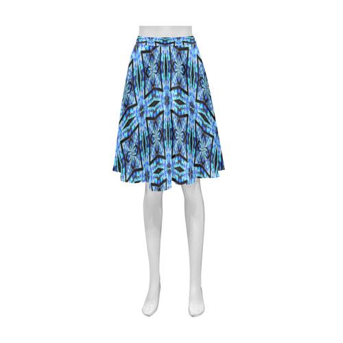 Blue and Black Athena Women's Short Skirt (Model D15)