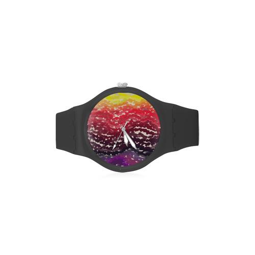 Palettes Unisex Round Rubber Sport Watch(Model 314)