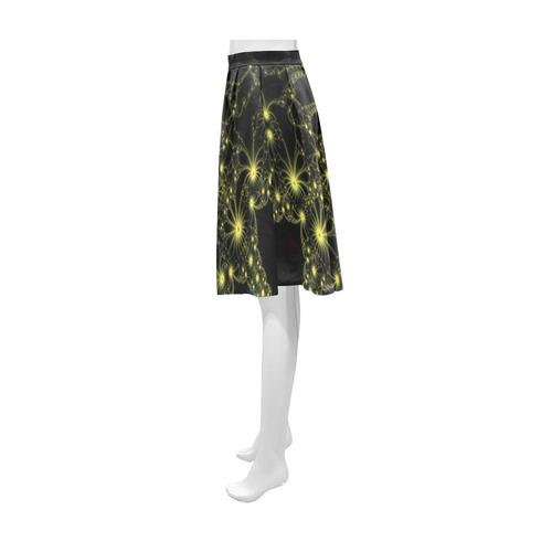 Yellow Flower Explosion Athena Women's Short Skirt (Model D15)