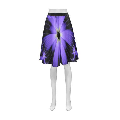 Purple Flower Burst Athena Women's Short Skirt (Model D15)