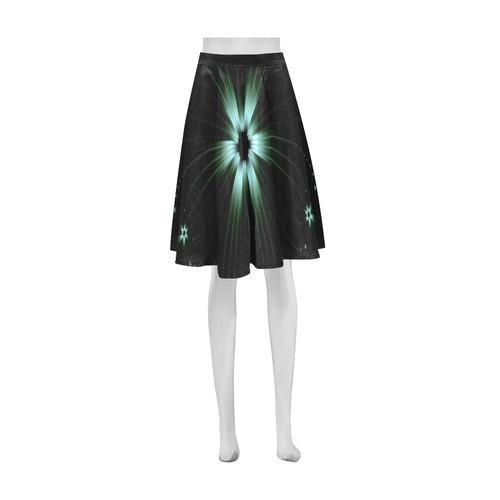 Teal Flower Burst Athena Women's Short Skirt (Model D15)