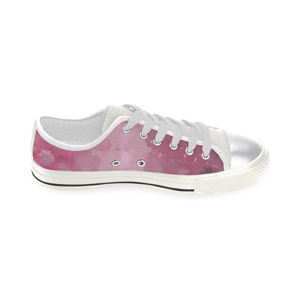 LILAC SURPISE Canvas Women's Shoes/Large Size (Model 018)