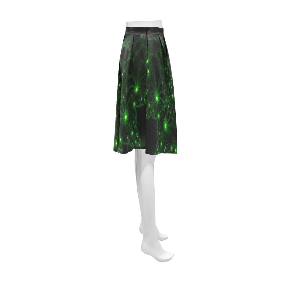 Green Flower Explosion Athena Women's Short Skirt (Model D15)