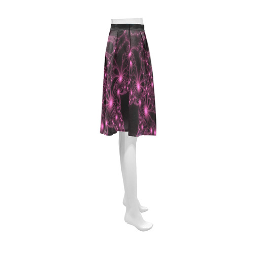 Pink Flower Explosion Athena Women's Short Skirt (Model D15)
