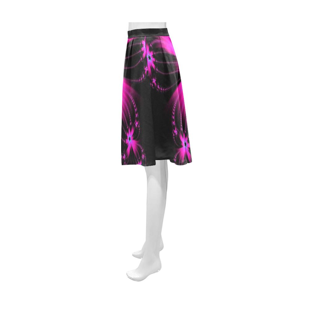 Pink Flower Burst Athena Women's Short Skirt (Model D15)