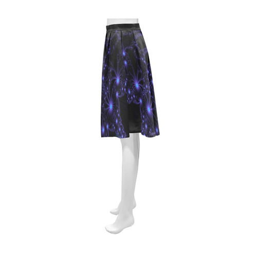 Blue Flower Explosion Athena Women's Short Skirt (Model D15)