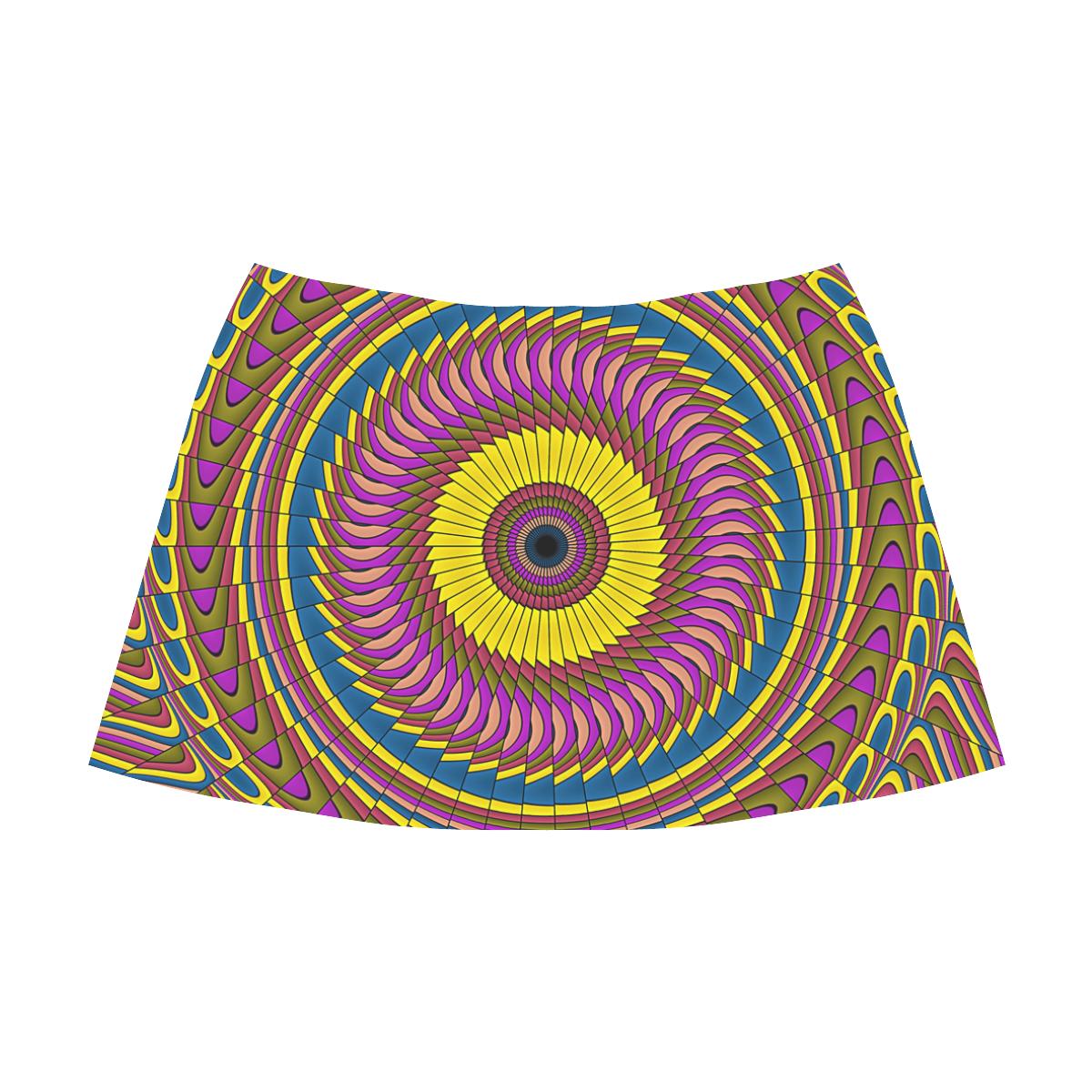 Ornament Mandala Mnemosyne Women's Crepe Skirt (Model D16)