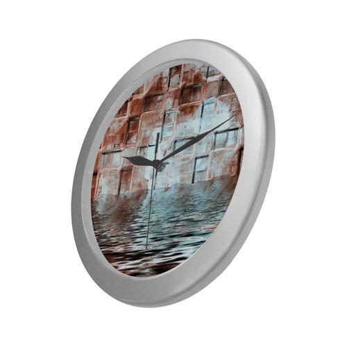 Bronze SeaGate - Jera Nour Silver Color Wall Clock