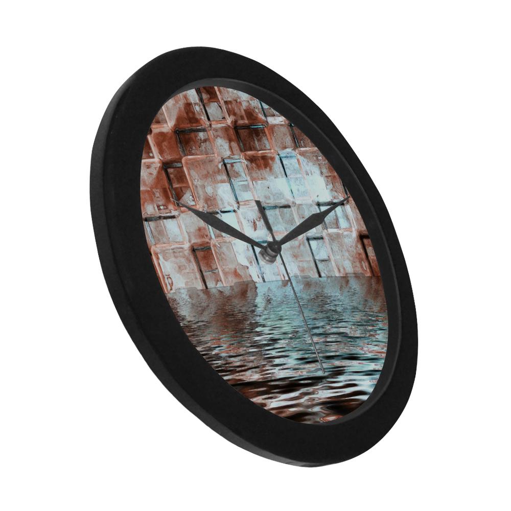 Bronze SeaGate - Jera Nour Circular Plastic Wall clock