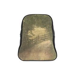 Vintage Landscape 02 School Backpack/Large (Model 1601)