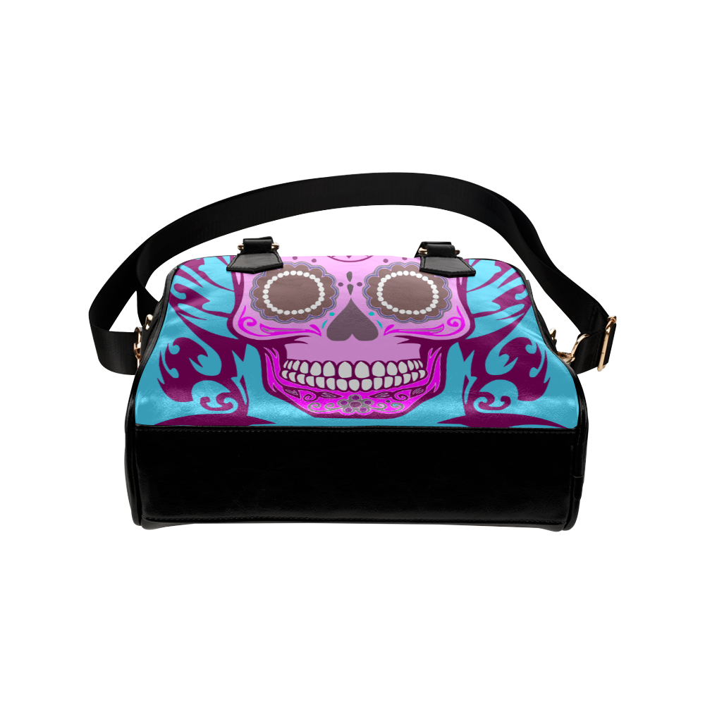 SKULL BABYBLUE Shoulder Handbag (Model 1634)