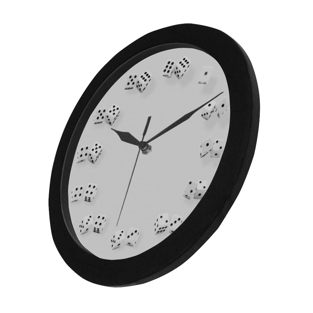Novelty Dice Numbers Wall Clock Circular Plastic Wall clock