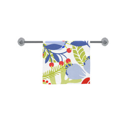 """Colorful Red Blue Modern Floral Pattern Custom Towel 16""""x28"""""""
