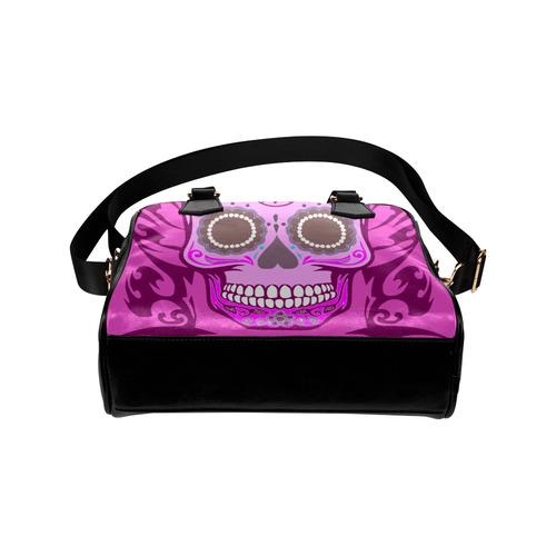 SKULL PINKY Shoulder Handbag (Model 1634)
