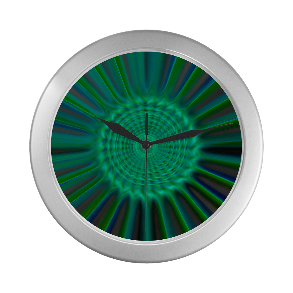 sdbs 44 Silver Color Wall Clock