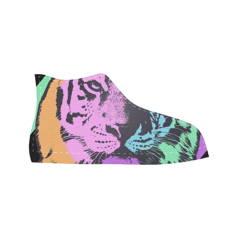 TIGER MULTICOLOR Aquila High Top Microfiber Leather Men's Shoes (Model 032)