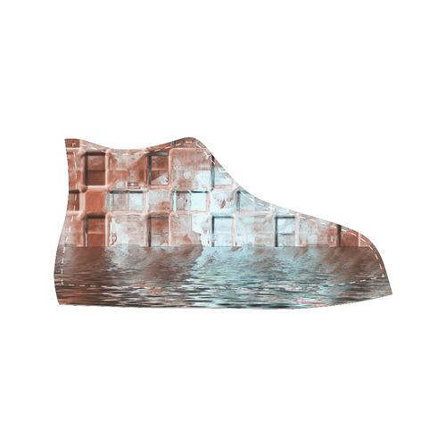 Bronze SeaGate - Jera Nour Men's Classic High Top Canvas Shoes /Large Size (Model 017)