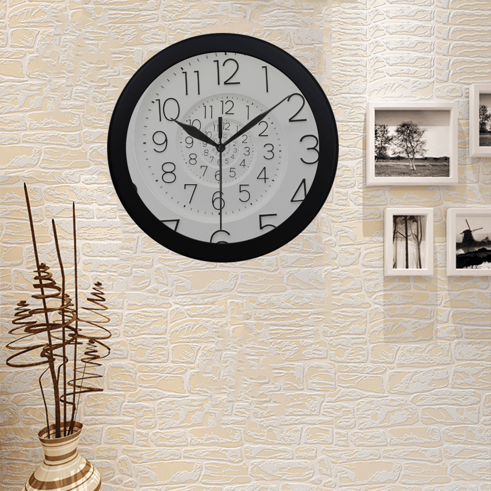 Conceptual Novelty Droste Clock Circular Plastic Wall clock