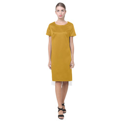 Pirate Gold Short Sleeves Casual Dress(Model D14)