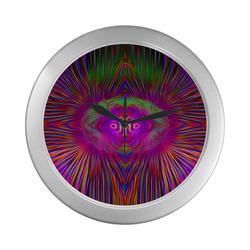 sd blubbik Silver Color Wall Clock
