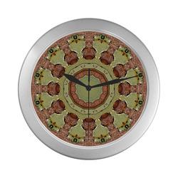 Rust-Mandala 004.2, Colors of Rust, rusty Silver Color Wall Clock