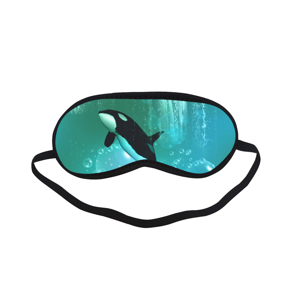 Orca with bubbles Sleeping Mask