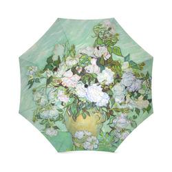 Roses Vincent Van Gogh Floral Fine Art Foldable Umbrella (Model U01)