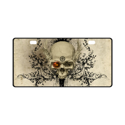 Amazing skull with wings,red eye License Plate