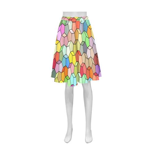 Colorful Polygon Pattern Athena Women's Short Skirt (Model D15)