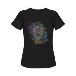 Día De Los Muertos Skull Ornaments Brush Women's Classic T-Shirt (Model T17)