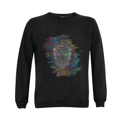 Día De Los Muertos Skull Ornaments Brush Gildan Crewneck Sweatshirt(NEW) (Model H01)