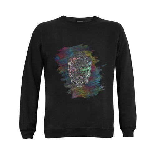 Día De Los Muertos Skull Ornaments Brush Gildan Crewneck Sweatshirt(NEW) (Model H01)