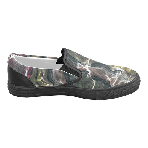 Abstract Glossy Wavy Mesh Slip-on Canvas Shoes for Men/Large Size (Model 019)